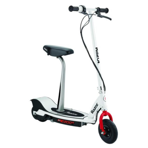 E200S Seated Electric Scooter - White/Red