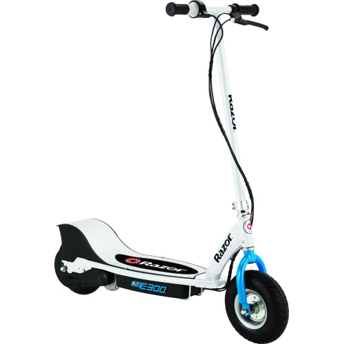 E300 Electric Scooter - White/Blue