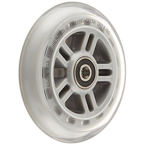 A Scooter Series Wheels With Bearings (Set Of 2) - Clear