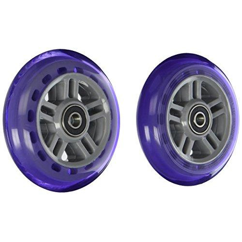 A Scooter Series Wheels With Bearings (Set Of 2) - Purple