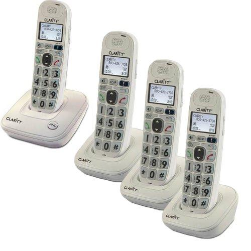 Clarity Home Phone With 4 Handsets