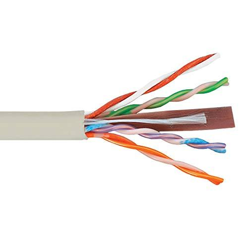 Icc 500Mhz Cat6 Bulk Cable With 23 Awg Utp Solid Wires, Cmp Jacket In A Pull Box, 1000 Feet In White