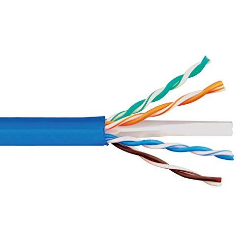 Icc 600Mhz Cat6E Bulk Cable With 23 Awg Utp Solid Wires, Cmr Jacket In A Pull Box, 1000 Feet In Blue