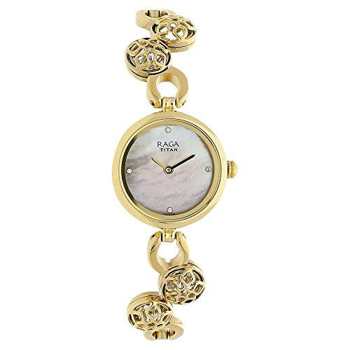 Mother Of Pearl Dial Stainless Steel Strap Watch