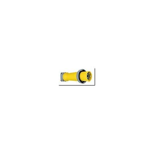 """Hubbell Wiring Systems M5100P9 Ship-To-Shore Zytel Super Tough Nylon Watertight Plug, 4 Pole, 5 Wire, 100 Amps, 120/208V Ac, 3 Phase, 1-1.94"""" Cord Grip Range, Yellow"""