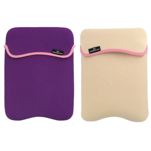 Reversible Notebook Sleeve Fits Most Widescreens Up To 10 - Purple/Cream