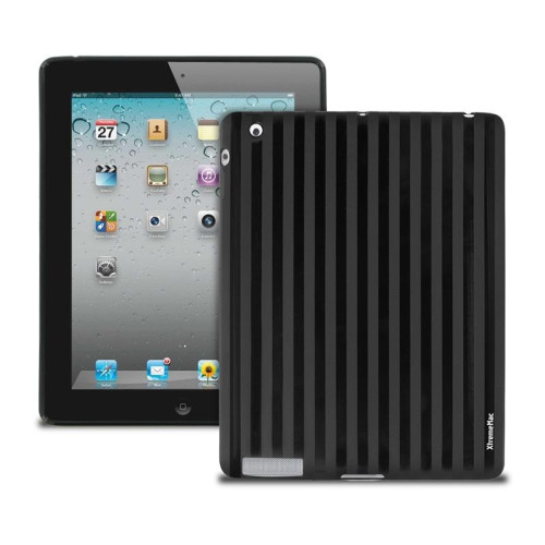 Xtrememac Tuffwrap Shine Case For Ipad 2, 3 & 4 (Black Stripe)