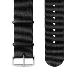 Wellograph All-Weather Nato Strap For Wellograph Wellness Watch, Black