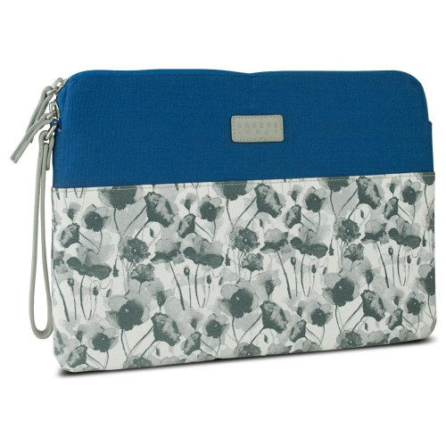 Greene + Gray Zippered Sleeve For Microsoft Surface Pro 3, Blue Floral
