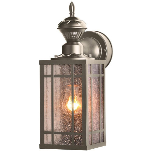 Designers Edge L-2560Pw 14 In. Motion Activated Coach Lantern, Pewter