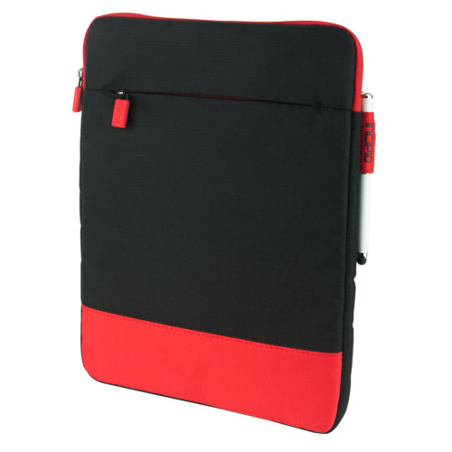 Incipio Asher Nylon Sleeve Case For 11 tablet/Devices, Red/Black