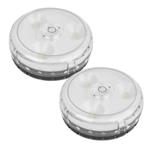 Rite Litelpl592Wireless Battery Touch On/Off Led Micro Puck Light 2-Pack