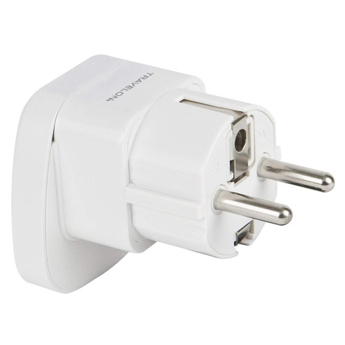 Travelon Europe Grounded Adapter Power Outlet Plug White