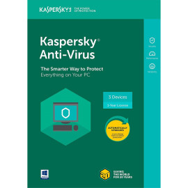 Kaspersky Antivirus 2019 For 3 Devices, 1 Year [Key Code For Latest Edition]