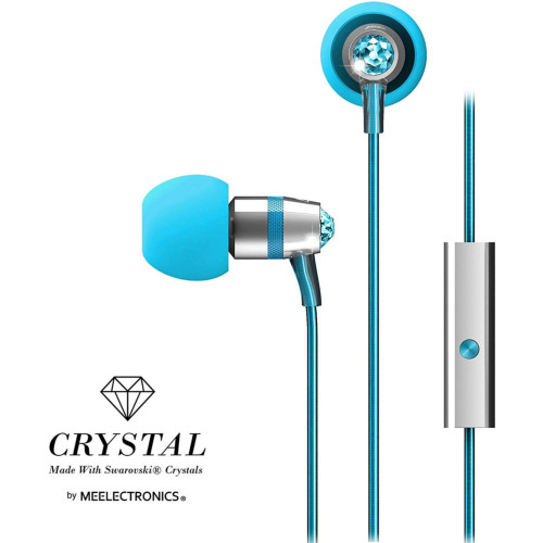 Mee Audio Crystal In-Ear Wired Headphones Turquoise M11J-Tq