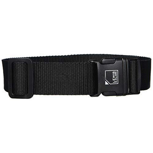 Lewis N. Clark Add-A-Bag Travel Luggage Straps + Suitcase Belt For Travel Security With Adjustable Straps, Perfect Airplane Travel Accessories, 8-13-Inch (Standard)