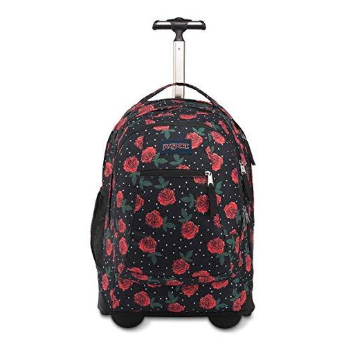 Jansport Driver 8 Rolling Backpack - Wheeled Travel Bag With 15-Inch Laptop Sleeve, Navy