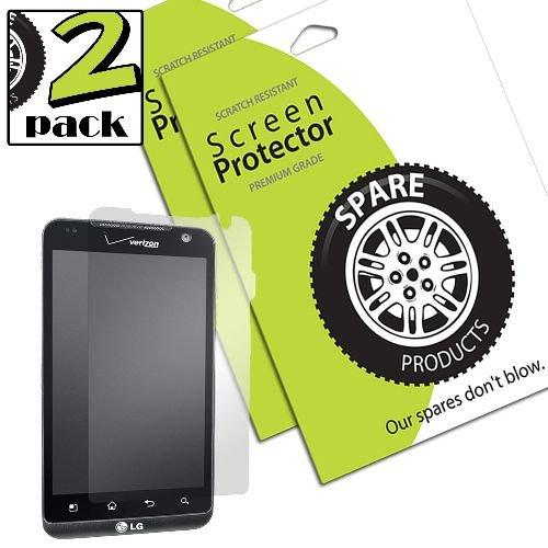 Spare Products Screen Protector Film for LG REVOlution - 1 Pack - Retail Packaging - Clear