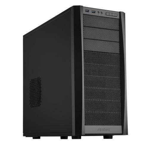 Antec Gaming Series Three Hundred Two Mid-Tower Pc/Gaming Computer Case With 9 Tool-Less Drive Bays, 2 Ssd, 120/140Mm Fans X 2 Pre-Installed, 4 Fan Mounts For Atx, M-Atx And Mini-Itx,Black