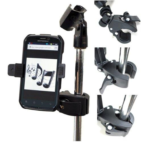 Music Mic Microphone Stand Smartphone Clamp Mount With 360
