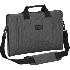 Targus Citysmart Laptop Protective Sleeve Case For Slim Travel With Durable Water-Resistant Nylon, Two Large Exterior Pockets, Removable Shoulder Strap, Slipcase Fits 16-Inch Laptop, Gray (Tss59404Us)