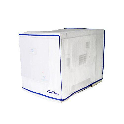 Computer Dust Solutions Printer Dust Cover, Covers Inkjet Or Laser Printers, Silky Smooth Antistatic Vinyl, Translucent Coconut Cream Color With Blue Trim, Several, (22W X16H X18D)