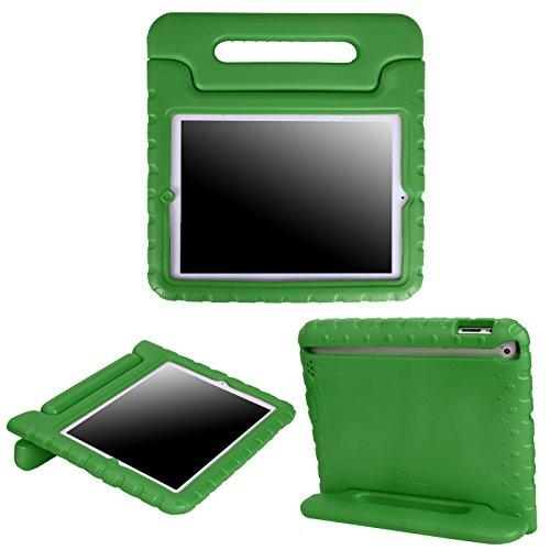 Hde Case For Ipad 2 3 4 - Kids Shock Proof Heavy Duty Impact Resistant Protective Cover Handle Stand For Apple Ipad 2Nd 3Rd 4Th Generation Tablet (Green)