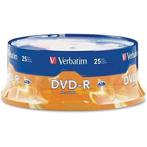 DVD-R Discs 47GB 16x Spindle Matte Silver 25/Pack