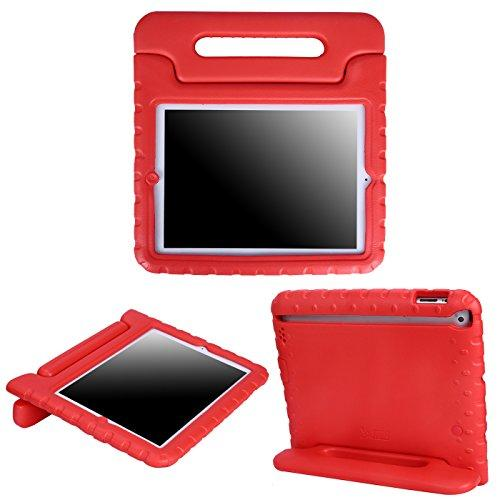 Hde Case For Ipad 2 3 4 - Kids Shock Proof Heavy Duty Impact Resistant Protective Cover Handle Stand For Apple Ipad 2Nd 3Rd 4Th Generation Tablet (Red)