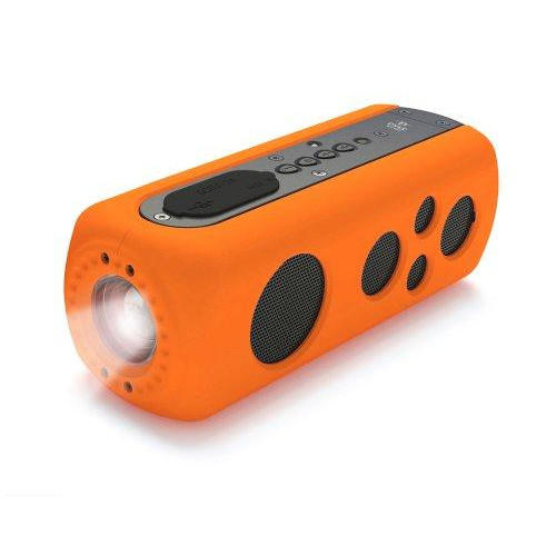 Sound Box Splash Sports Portable Speaker - Wireless Rugged Waterproof Bluetooth Compatible Audio Stereo With Aux In Jack, Rechargeable Battery - Iphone Android Ipad, Mp3 - Pylesport Pwpbt75Or (Orange)
