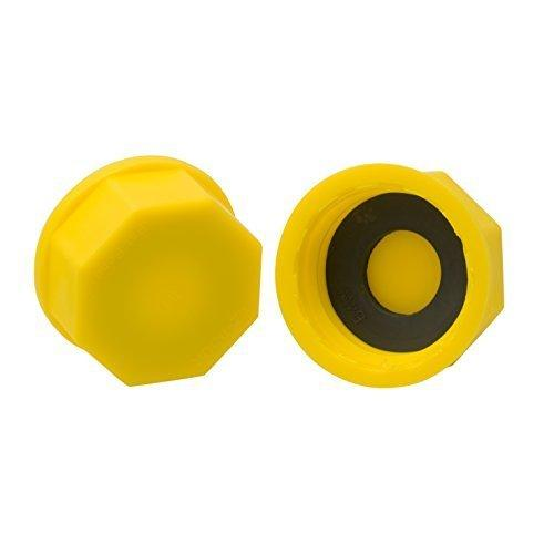 Solid Base Replacement Gas Can Cap - Yellow Coarse Thread Cap To Prevent Fuel Leakage (Pack Of 2)