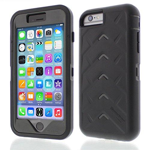 Apple iPhone 6 Drop Tech Black Smoke Gumdrop Cases Silicone Rugged Shock Absorbing Protective Dual Layer Cover Case