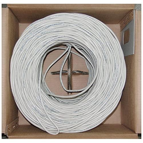 Offex Of-10X8-091Th Bulk Cat6 White Ethernet Cable Solid Utp (Unshielded Twisted Pair) Pullbox 1000-Feet
