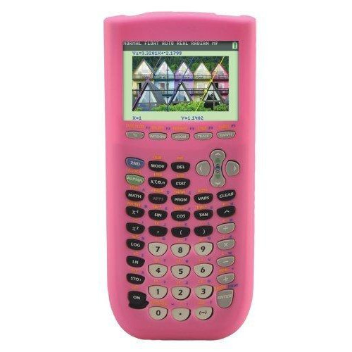 Guerrilla Silicone Case For Texas Instruments Ti-84 Plus C Silver Edition Graphing Calculator, Pink
