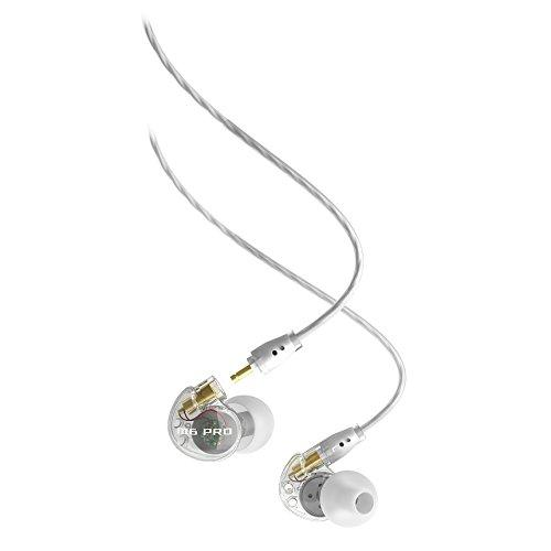 MEE audio M6 PRO Universal-Fit Noise-Isolating Musicians in-Ear Monitors with Detachable Cables (Clear) (1st Generation)