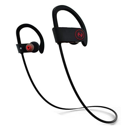 Bluetooth Headphones, Hussar Magicbuds Best Wireless Sports Earphones With Mic, Ipx7 Waterproof, Hd Sound With Bass, Noise Cancelling, Secure Fit, Up To 9 Hours Working Time (Upgraded)