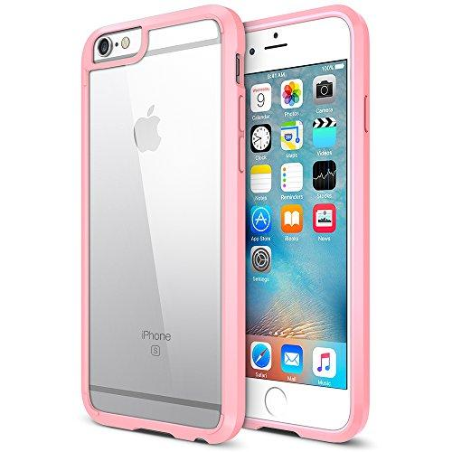 Trianium iPhone 6S Plus Case [Clear Cushion] iPhone 6 Plus Clear Case Bumper (55 inch)[Scratch Resistant] Shock-Absorbing Hard Back Panel for Apple iPhone 6/6S Plus (2014/2015) - Jet Black