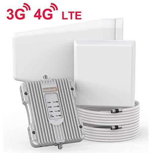 Amazboost Cell Phone Signal Booster Cover 5000 Square Foot for Home Office - 4G 3G LTE Data Cell Booster for Verizon AT&T T-Mobile Sprint