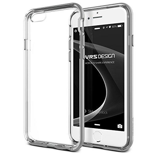 Vrs Design [Crystal Bumper] Slim Clear Back Fit Compatible With Apple Iphone 6 Plus / 6S Plus - Satin Silver