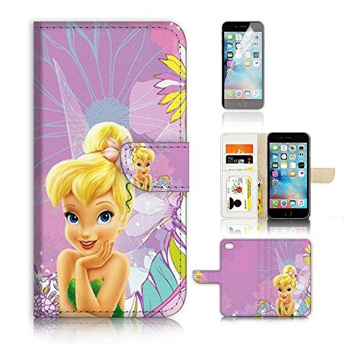 ( For iPhone 7 Plus 55 ) Flip Wallet Case Cover and Screen Protector Bundle A8462 TinkerBell