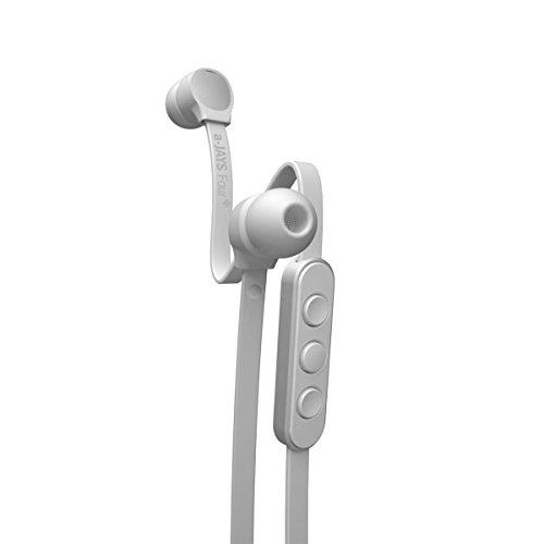 Jays a-JAYS 4+ Tangle-Free Earphones for Android (White/Silver)