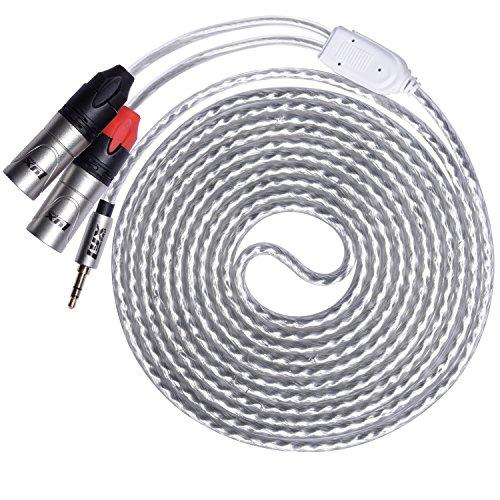 Lyxpro Y-Cable 35Mm Trs Male To Dual Xlr Male Stereo Audio Y-Splitter Adapter Cable - 10 Feet