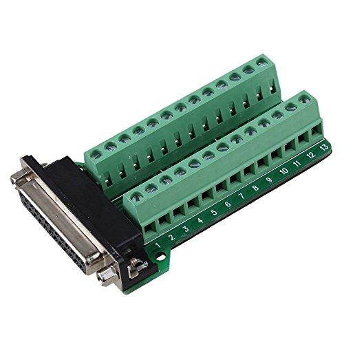 Sysly Db25 D-Sub Female Connector Adapter Rs232 To Terminal Signal Module Breakout Board