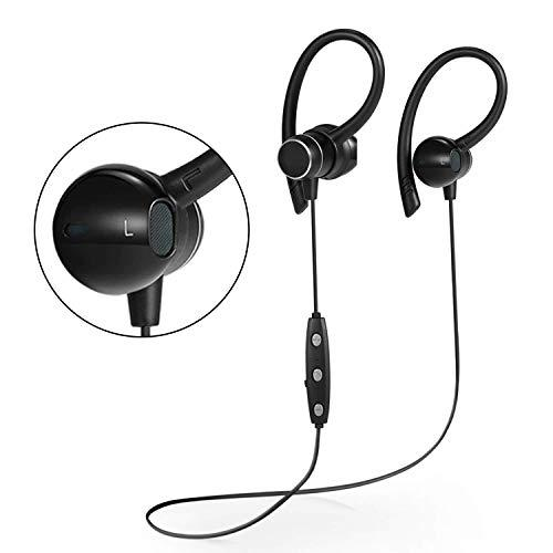 Wireless Sports Bluetooth Headphones V41 Shake Proof Earphones with Mic IPX5 Waterproof HD Sound with Bass Magnetic Attachment Earbuds for Gym Running Driving Leisure 9 Hour Battery Headsets (Black)