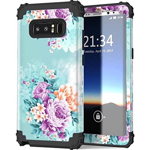 Galaxy Note 8 Casepixiu Soft Silicone Hard Shell Solid Pc Backshock Absorption Anti Scratch Hybrid Dual Layer Phone Case For Samsung Galaxy Note 8 Peony