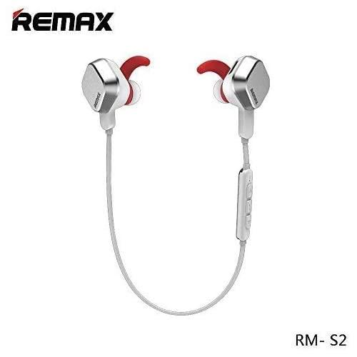 Wireless Headphones Remax Sporty Bluetooth V41 Long Lasting Stereo Headsets with Magnetic Connection Sweatproof Sports Earbuds with Noise Cancelling Built-in Mic (Silver)