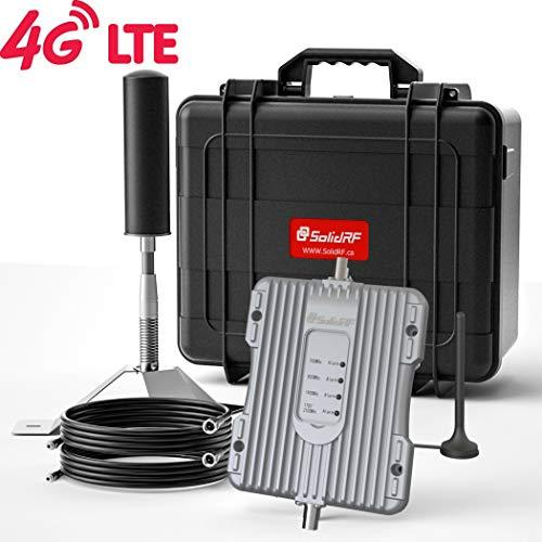 SolidRF RV Cell Phone Signal Booster Rvsuper Kit 4G Cell Booster Rv Accessories for Rv Class A Class B Enhance Signal Up to 100X