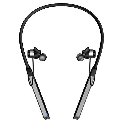 PALOVUE Earflow Wireless in-Ear Headphones with Neckband Bluetooth V50 aptX Hi-Fi Mode Switch 12 Hours Playtime 15 Hours Fast Charging Noise Cancelling Earbuds Built-in Mic