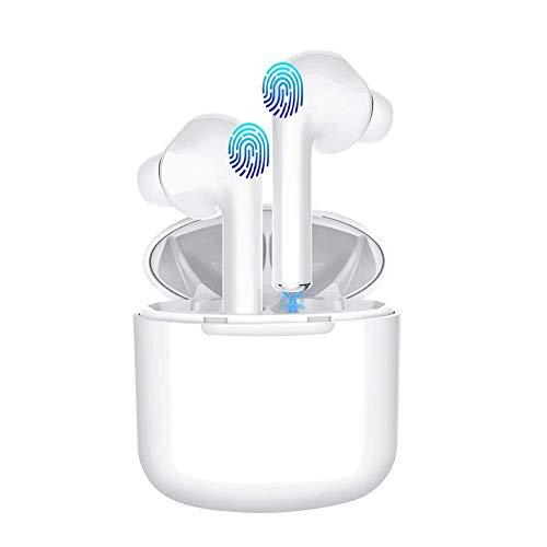 Wireless EarbudsBluetooth Headphones Mini in-Ear Headsets Sports Earphone with True Wireless Earbuds and Built-in Charging case for Airpods Android/iPhone (White)