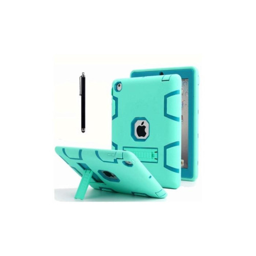Aicase Ipad 2/3/4 Shockproof Military Heavy Duty Rubber With Hard Stand Case Green/Blue